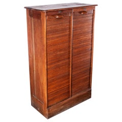 1930s Thonet Tambour Fronted Oak Cabinet