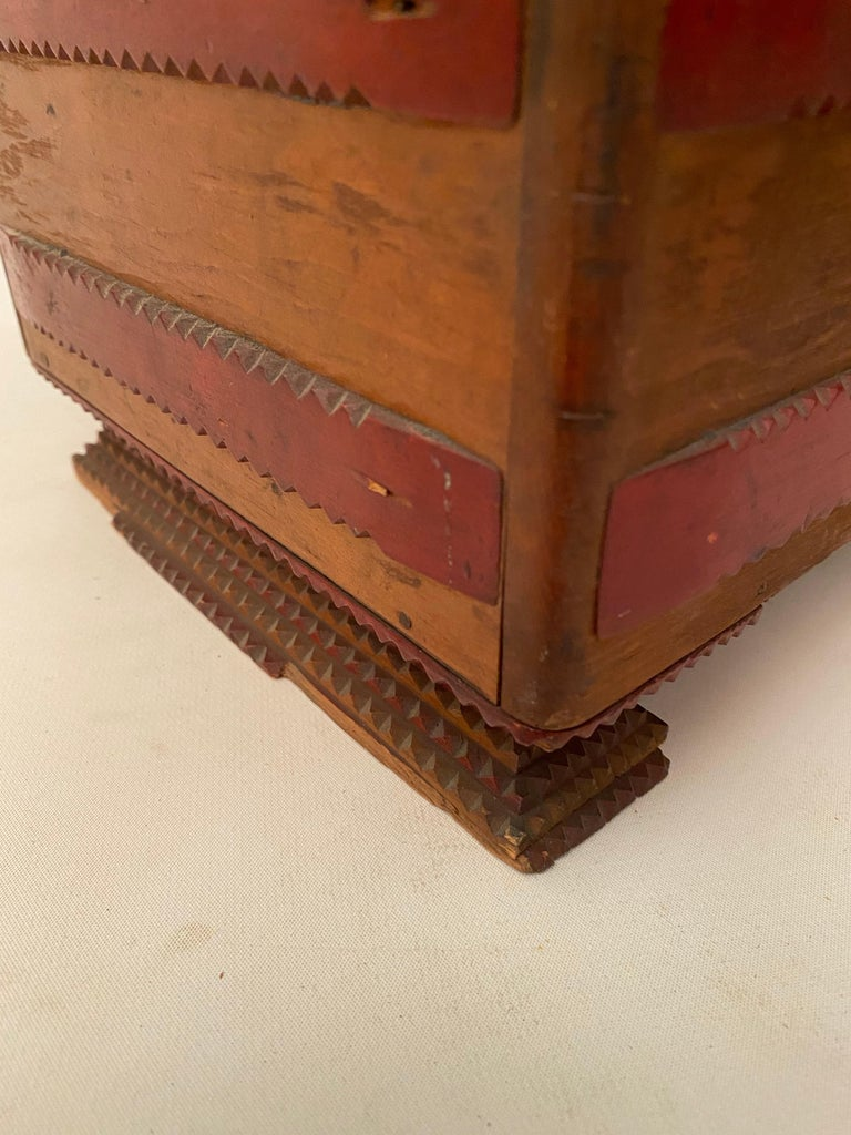 1930s Tramp Art Keepsake Box For Sale 7