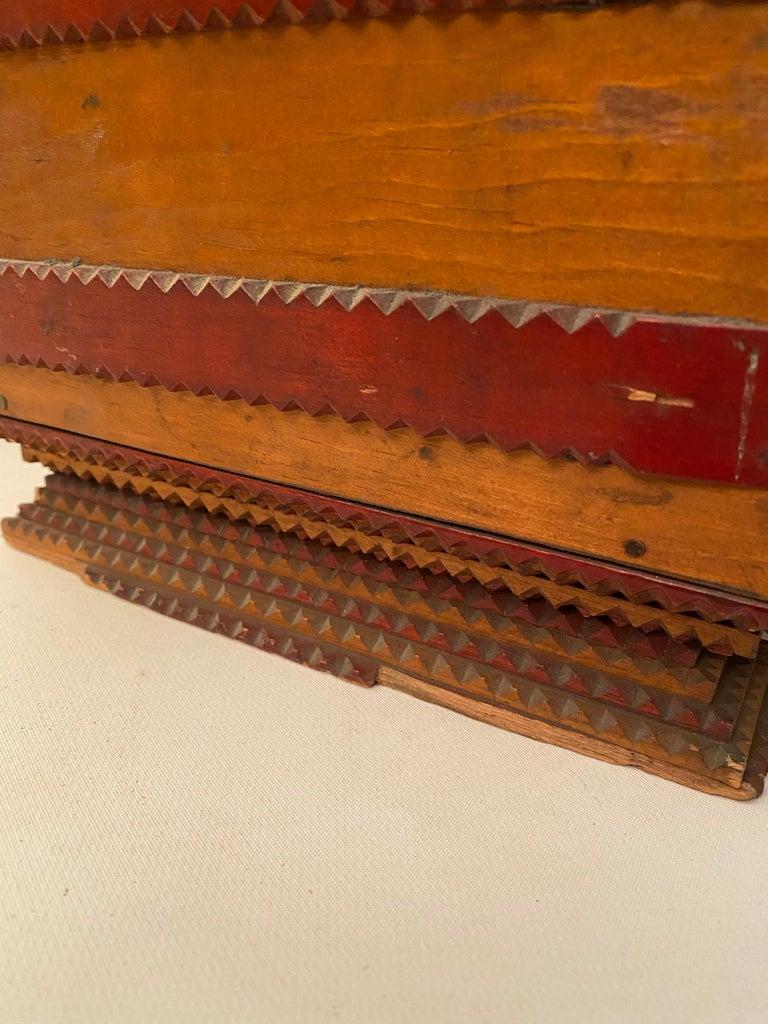 1930s Tramp Art Keepsake Box For Sale 8