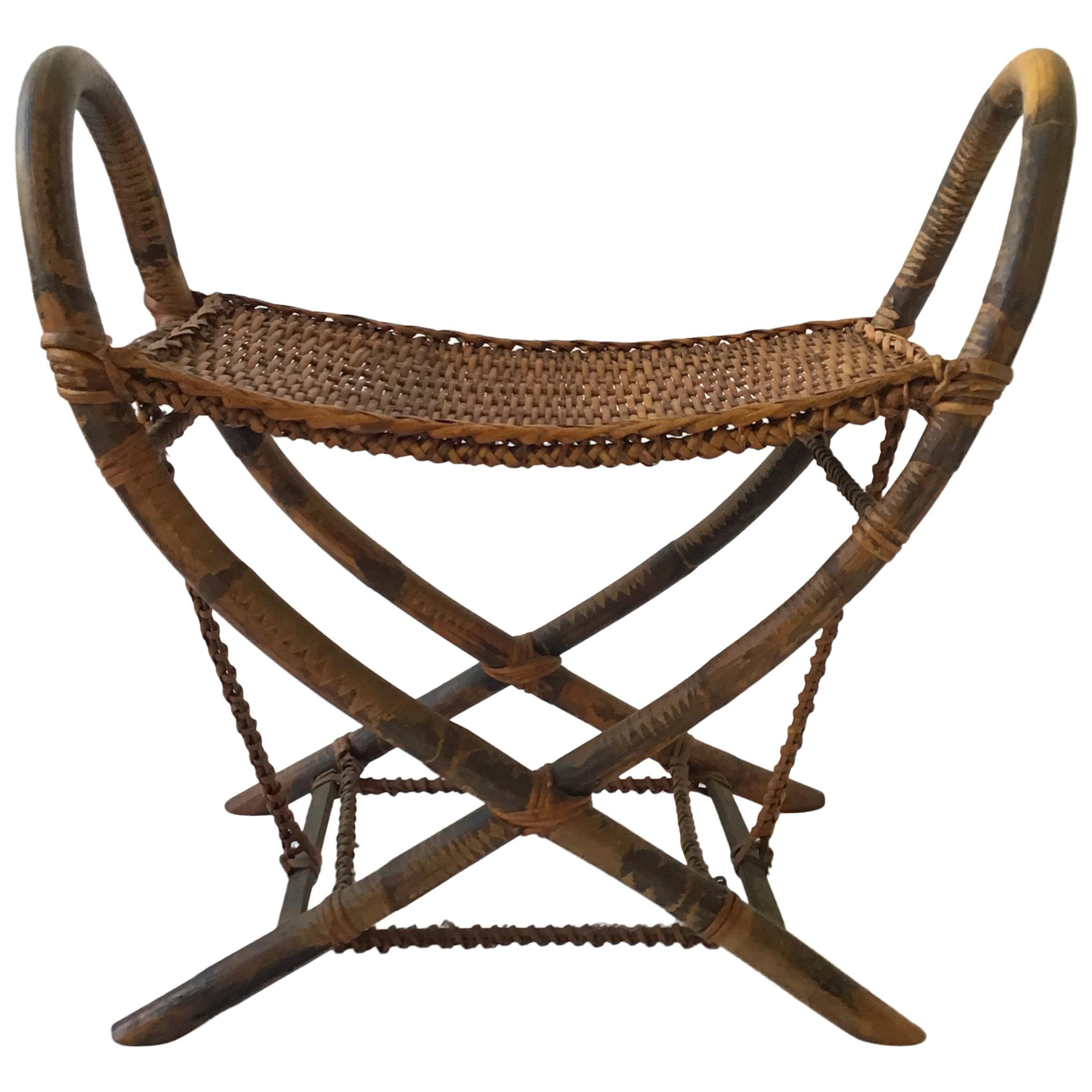 1930s Tribal Bamboo Bench