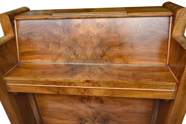 English 1930s Upright Art Deco Piano by Berry of London