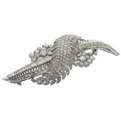 1930s Vintage 18 Karat/14 Karat Diamond Pin 16 Carat