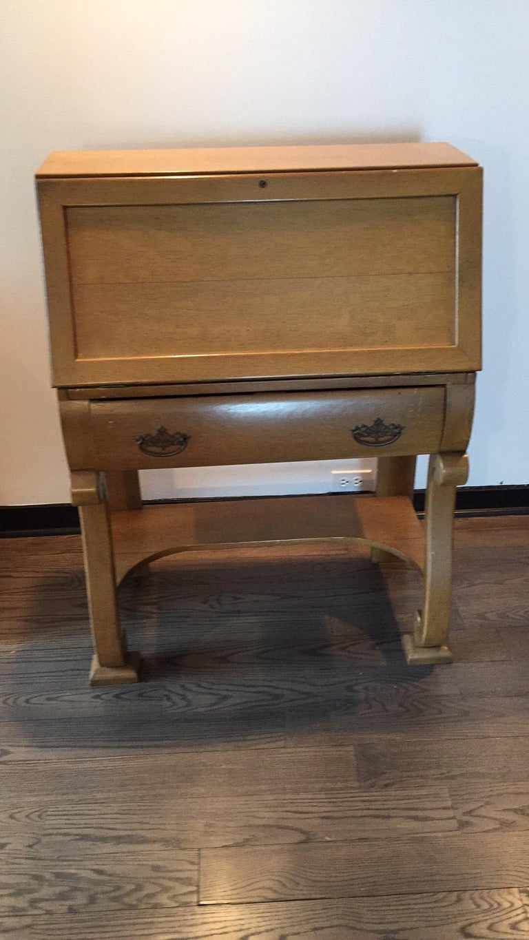 Hand-Crafted 1930s Vintage French Secretary Desk For Sale
