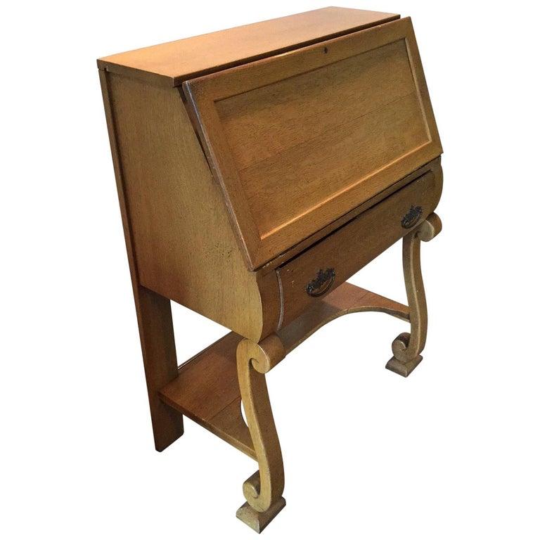 1930s Vintage French Secretary Desk For Sale