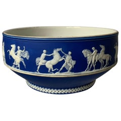1930s Wedgwood Dark Blue Neoclassical Jasperware Bowl