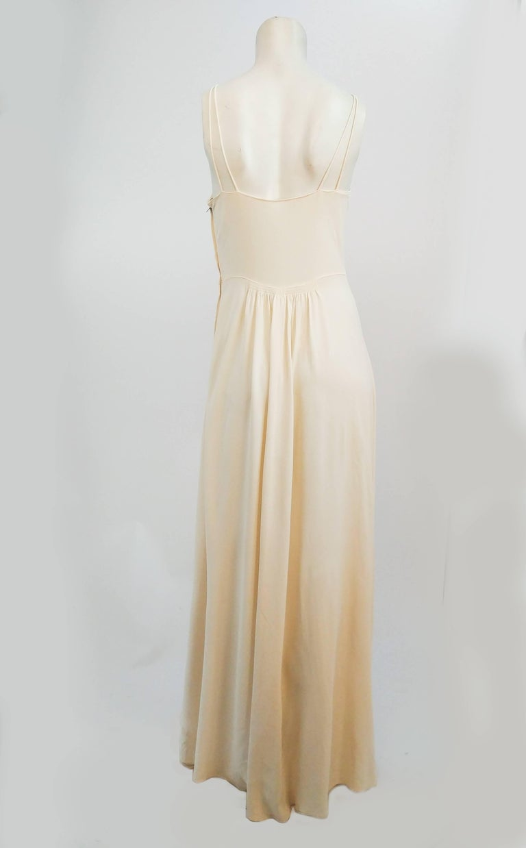 1930s White Double Strap Dress In Good Condition For Sale In San Francisco, CA