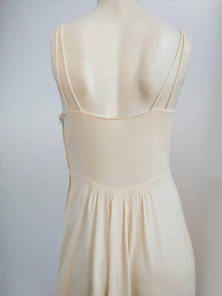 Women's 1930s White Double Strap Dress For Sale