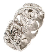 1930s White Gold Wedding Ring Band