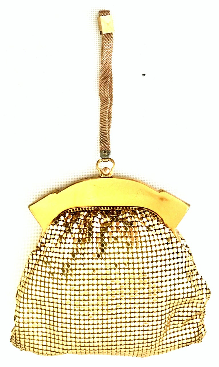 1930'S Whiting & Davis Coveted Gold Metal Mesh