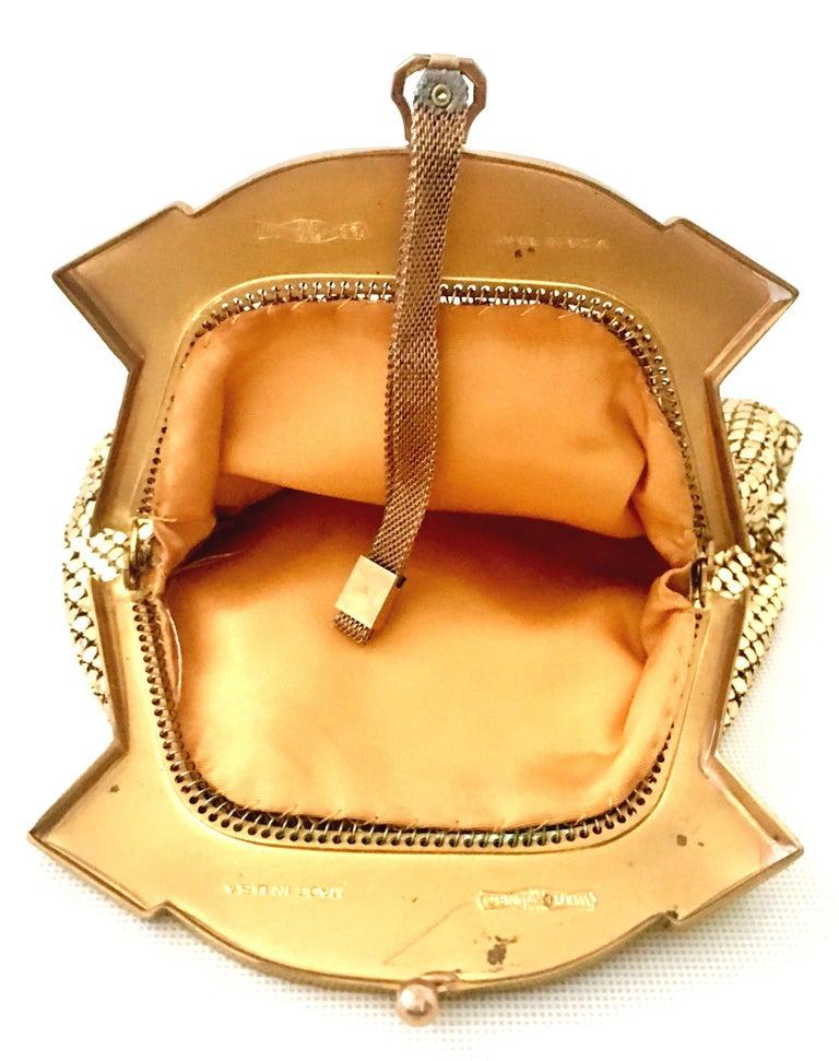 1930'S Whiting & Davis Gold Metal Mesh Wristlet Evening Bag 5