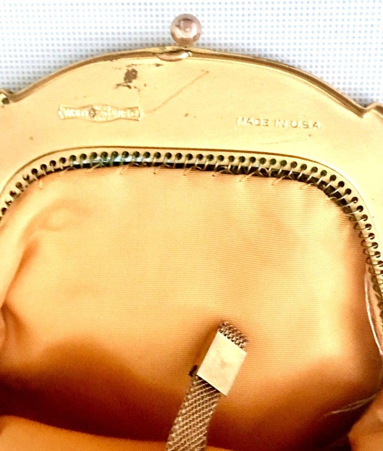 1930'S Whiting & Davis Gold Metal Mesh Wristlet Evening Bag 6