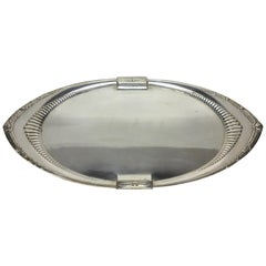 1930s W.M.F. Art Deco Silver Plated Oval Tray