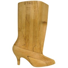 1930s Wood Boot Sculpture Mold
