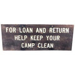 1930s Wood Campgrounds Sign