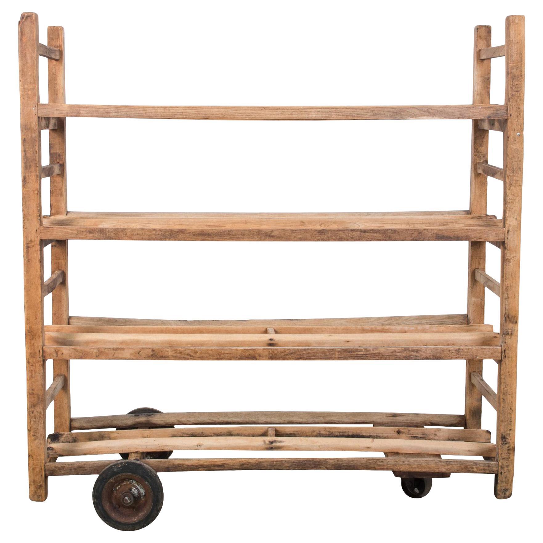 1930s Wooden Bread Trolley