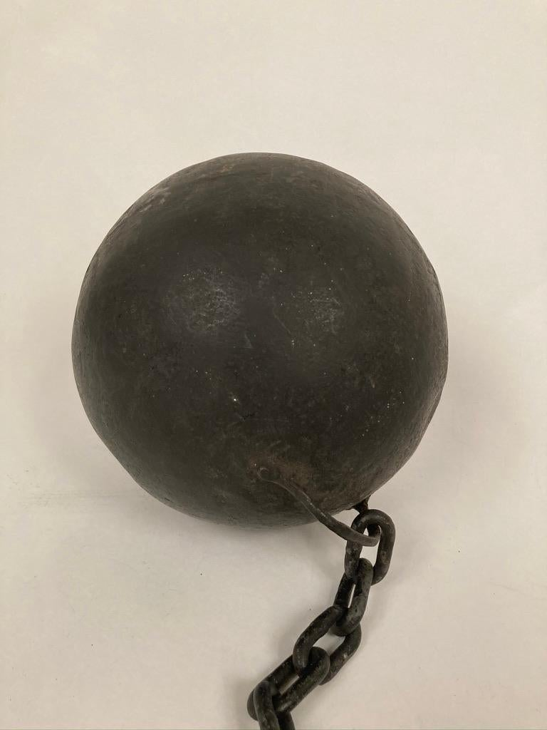 Other 1930s Wrought Iron Ball and Chain Movie Prop For Sale