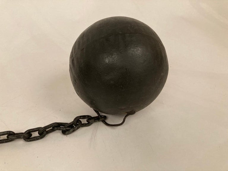 1930s Wrought Iron Ball and Chain Movie Prop For Sale 2