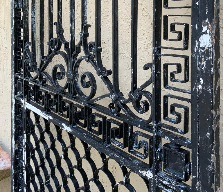 1930s Wrought Iron Gate or Door For Sale 4