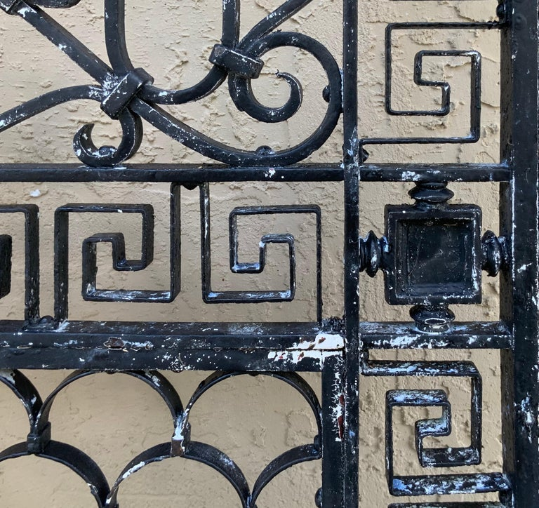 1930s Wrought Iron Gate or Door For Sale 6