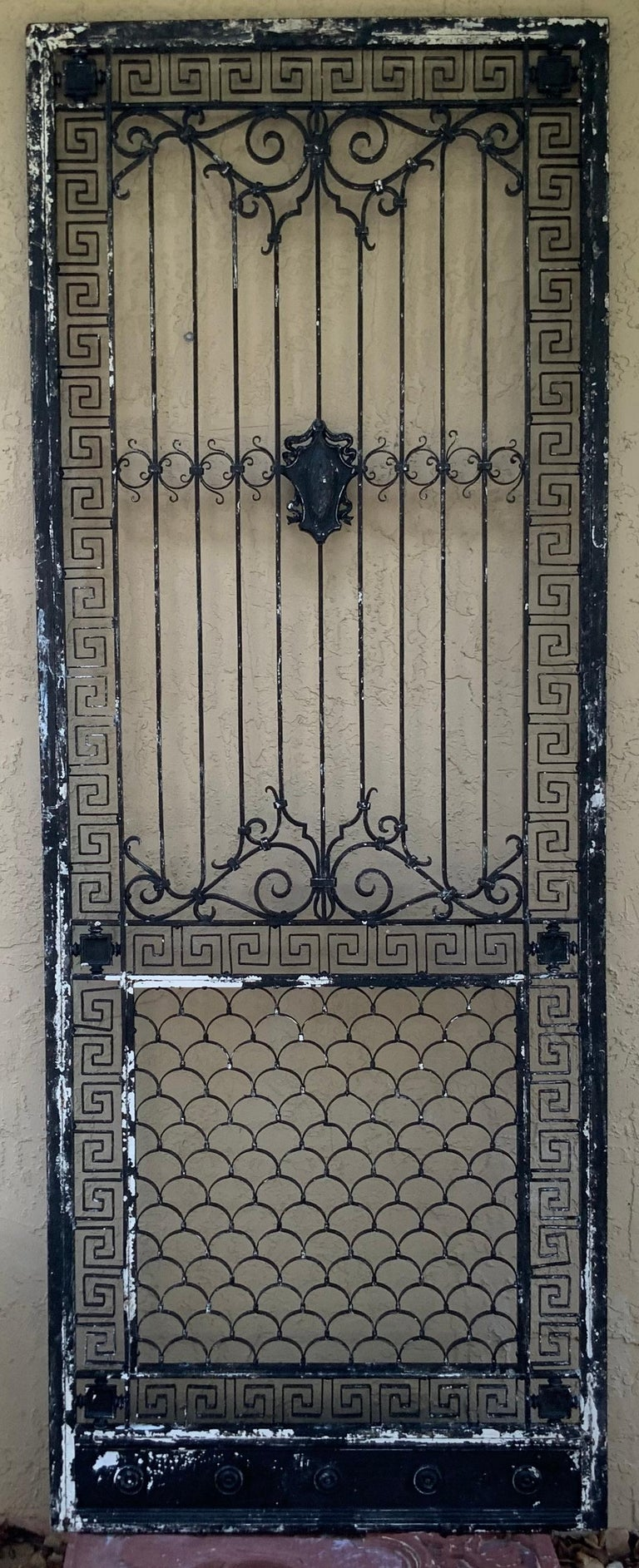 1930s Wrought Iron Gate or Door For Sale 8