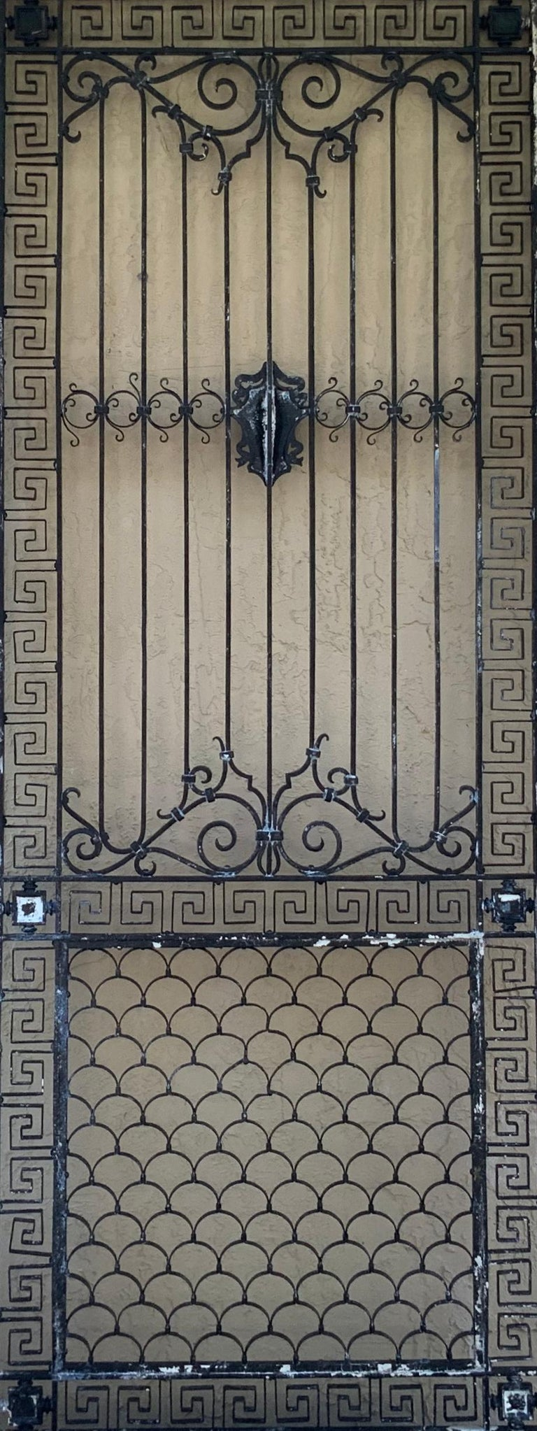 1930s Wrought Iron Gate or Door For Sale 9