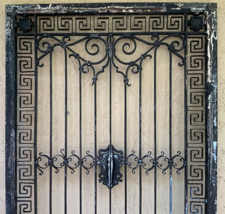 1930s Wrought Iron Gate or Door For Sale 10