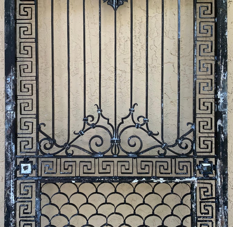 1930s Wrought Iron Gate or Door For Sale 11