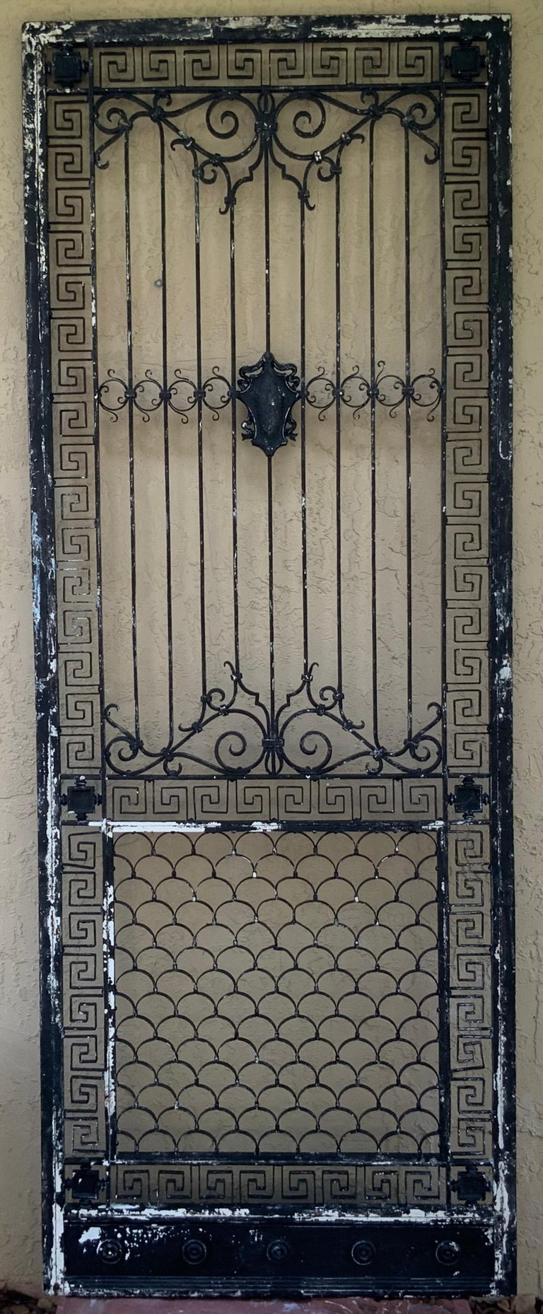 1930s Wrought Iron Gate or Door For Sale 13