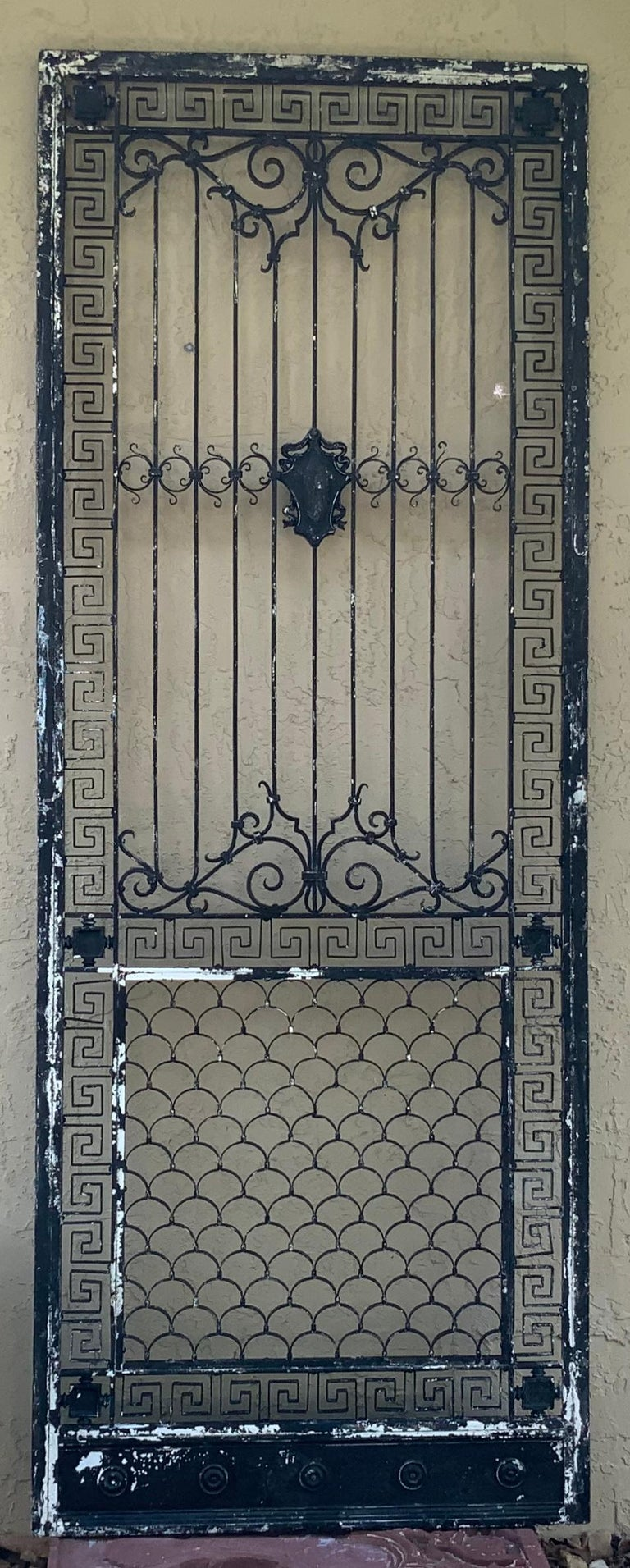 1930s Wrought Iron Gate or Door For Sale 14