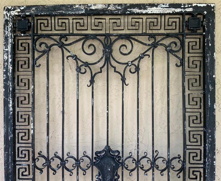 1930s Wrought Iron Gate or Door In Good Condition For Sale In Delray Beach, FL