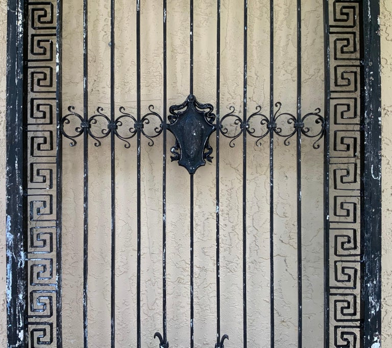 Mid-20th Century 1930s Wrought Iron Gate or Door For Sale