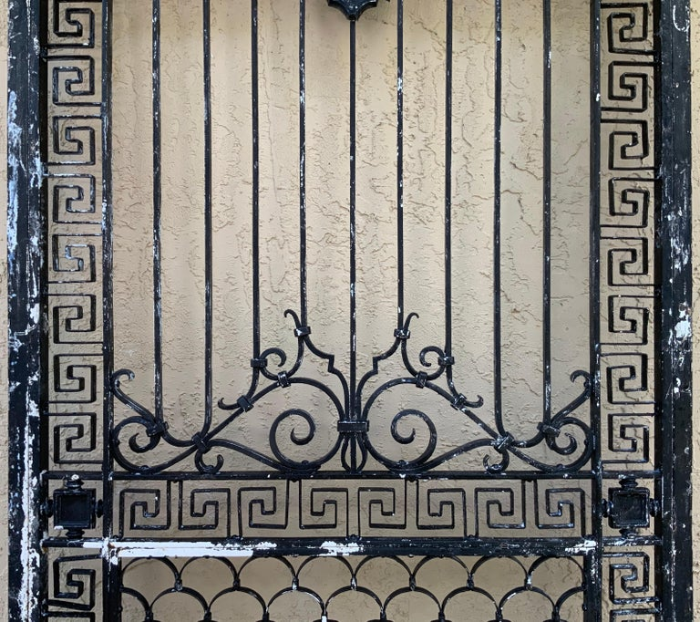 1930s Wrought Iron Gate or Door For Sale 1