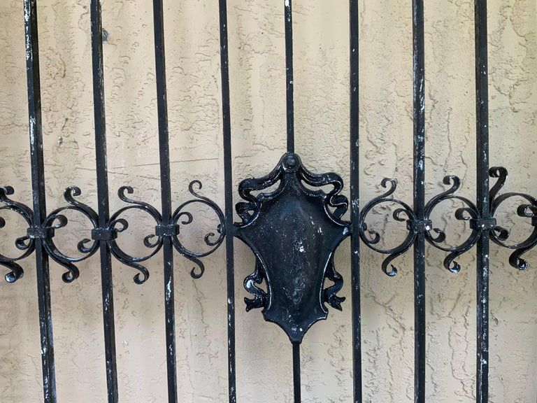 1930s Wrought Iron Gate or Door For Sale 2