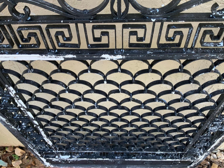 1930s Wrought Iron Gate or Door For Sale 3