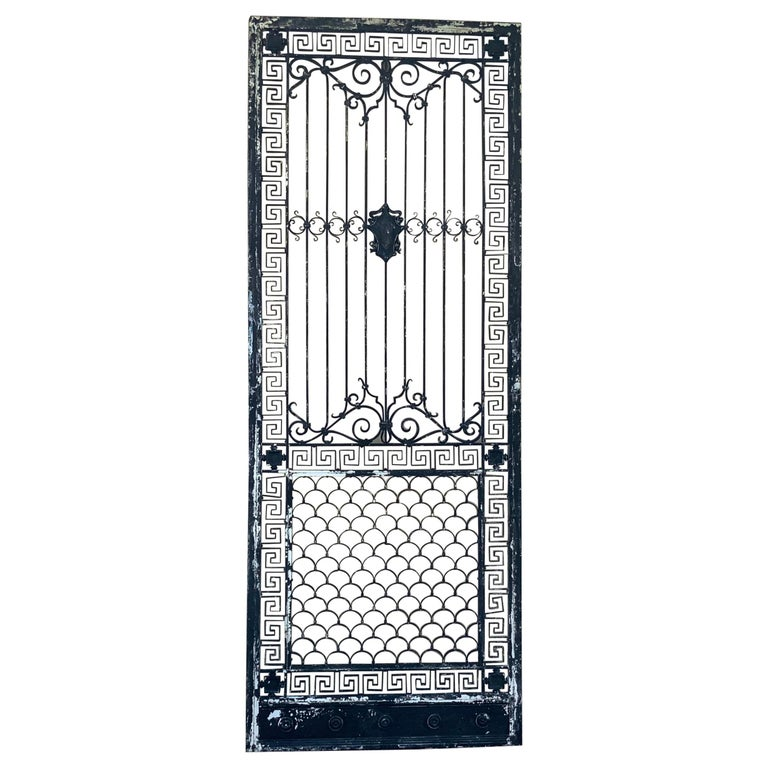 1930s Wrought Iron Gate or Door For Sale
