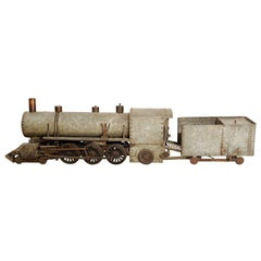 1930's Zinc and Iron Folk Art Train Model