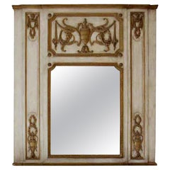 1931 NYC Waldorf Astoria Hotel Carved Wood Over Mantel Mirror with Urn Motif