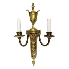 1931 NYC Waldorf Astoria Hotel Classical French Sconces with Urn Motif