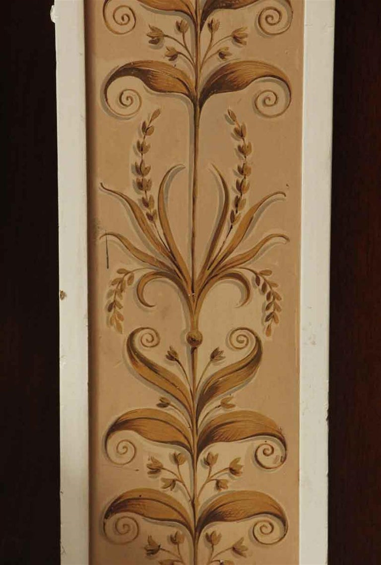 1931 NYC Waldorf Astoria Hotel Conrad Suite Hand Painted Pilasters from Italy In Good Condition For Sale In New York, NY