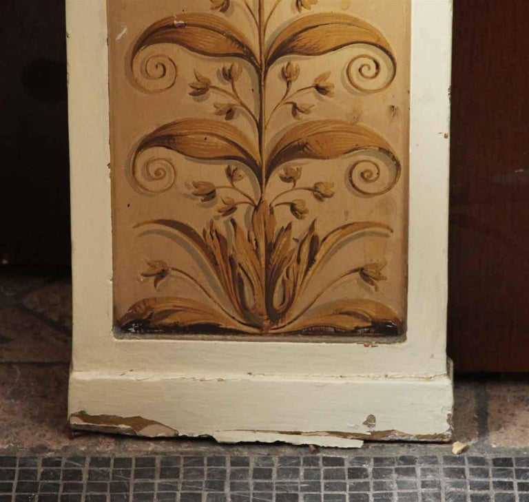 Mid-20th Century 1931 NYC Waldorf Astoria Hotel Conrad Suite Hand Painted Pilasters from Italy For Sale