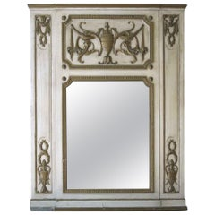1931 NYC Waldorf Astoria Hotel Over Mantel Mirror Hand Carved French Tan Wood