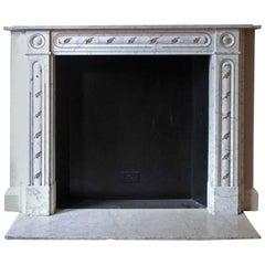 1931 NYC Waldorf Astoria Hotel Marble Mantel White Carrara English Regency