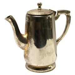 1931 NYC Waldorf Astoria Hotel Silver Plated Teapot