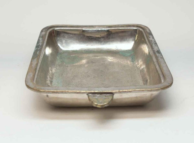 1931 NYC Waldorf Astoria Hotel Silvered Shallow Dish, Art Deco In Good Condition For Sale In New York, NY