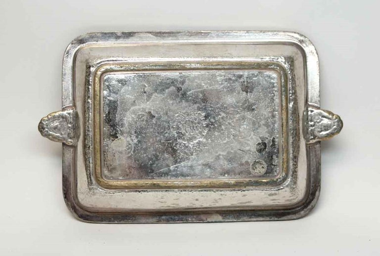Brass 1931 NYC Waldorf Astoria Hotel Silvered Shallow Dish, Art Deco For Sale