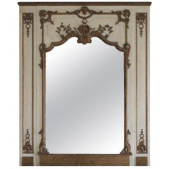 1931 NYC Waldorf Astoria Hotel Tan & Gold Carved Wood over Mantel Mirror