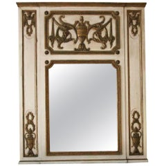 1931 NYC Waldorf Astoria Hotel Tan & Gold Wood over Mantel Mirror from Room 665
