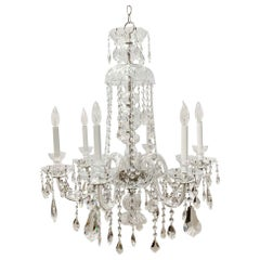 1931 NYC Waldorf Astoria Hotel Victorian Crystal Chandelier with 6 Glass Arms