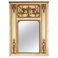1931 NYC Waldorf Astoria Hotel Wood Tan & Gold Over Mantel Mirror from Room 765