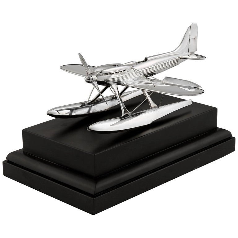 1931 Sterling Silver Supermarine S6b Seaplane Model, by Saunders & Shepherd For Sale